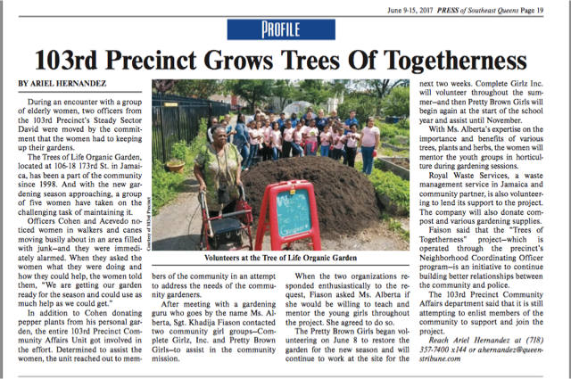 103rd Precinct Grows Trees of Togetherness