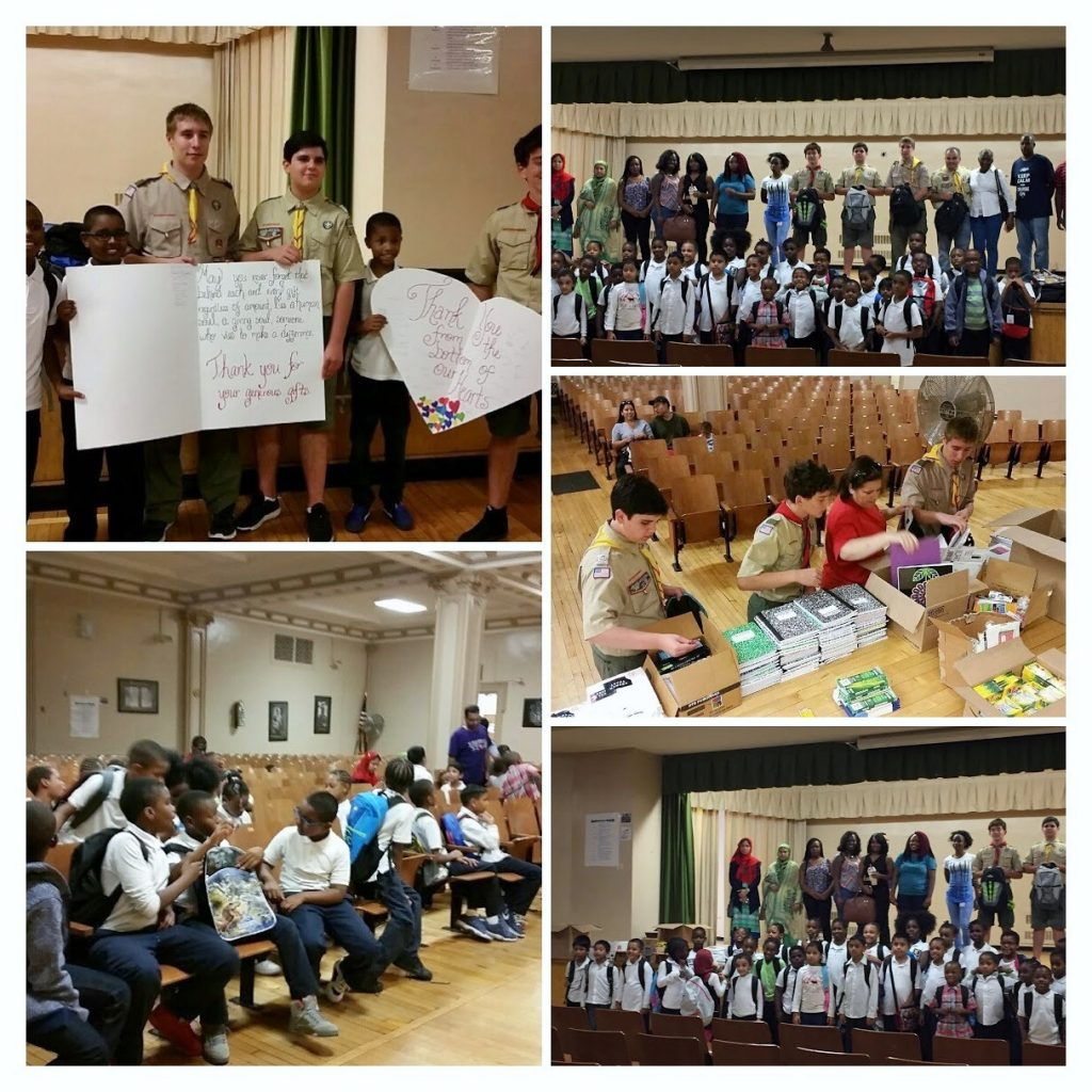 Book Bag Drive with 103rd Precinct and Boy Scouts of America