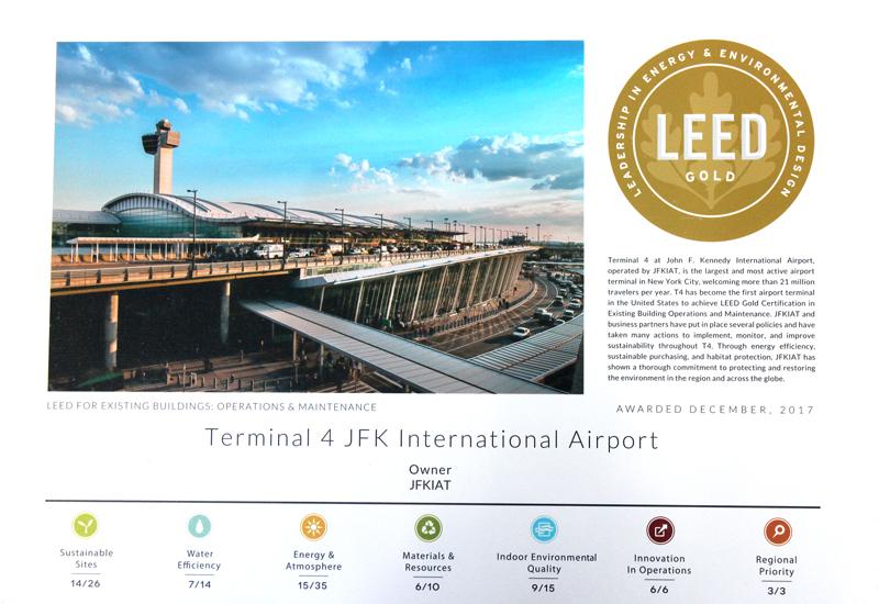 Royal Waste and JFK IAT at Terminal 4 LEED Award