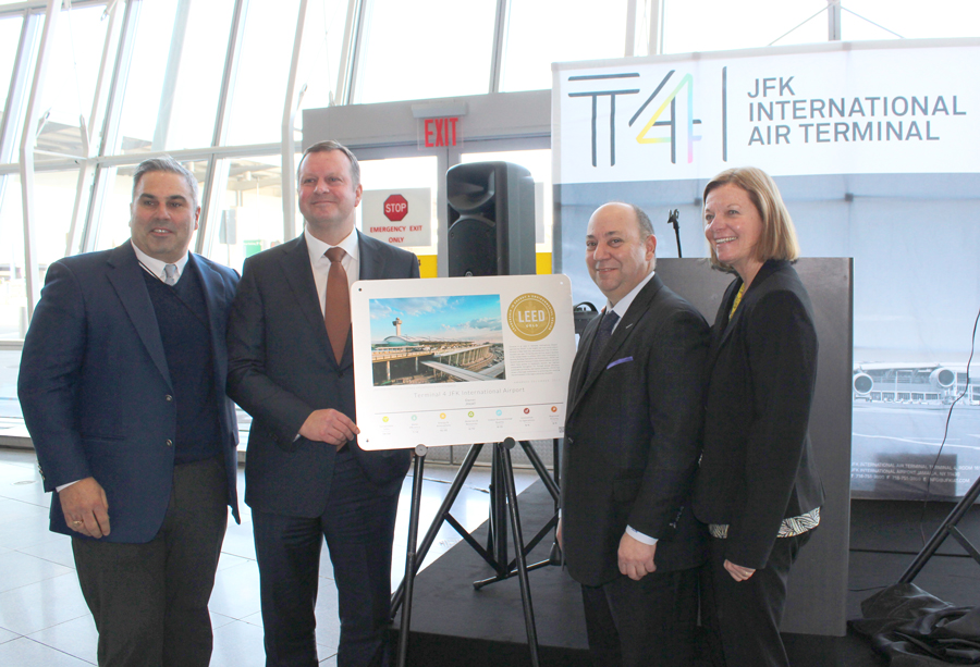 Royal Waste and JFK IAT at Terminal 4 LEED Award